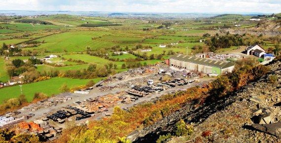 Killoran Slate Quarry view